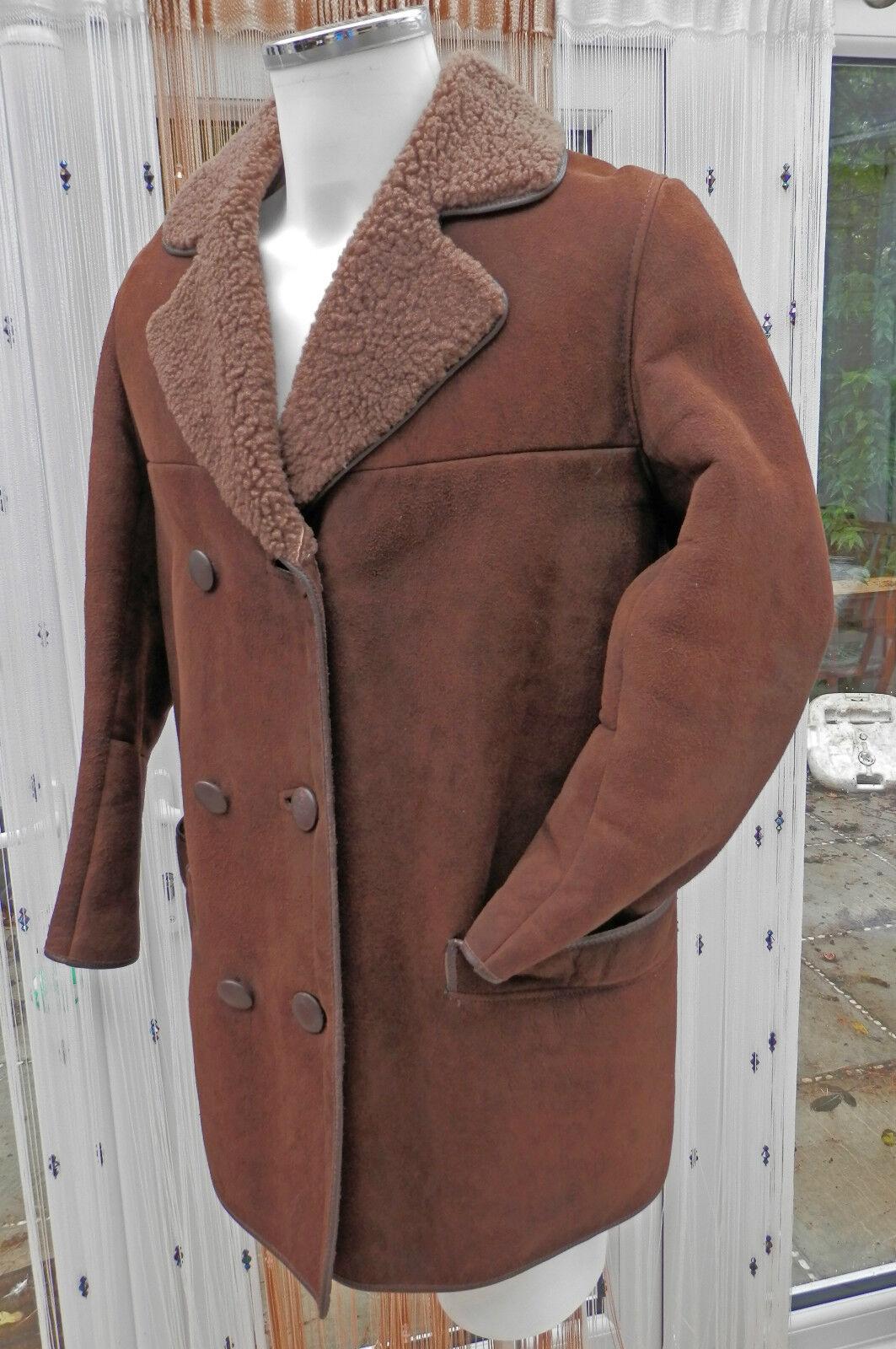 LADIES SHEEPSKIN COAT SIZE 16 RANCH TOUGH WEAR ANY WEATHER