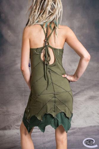 LEAF DRESS Pixie Hippy Layered Psytrance Festival Glastonbury One Size Regular