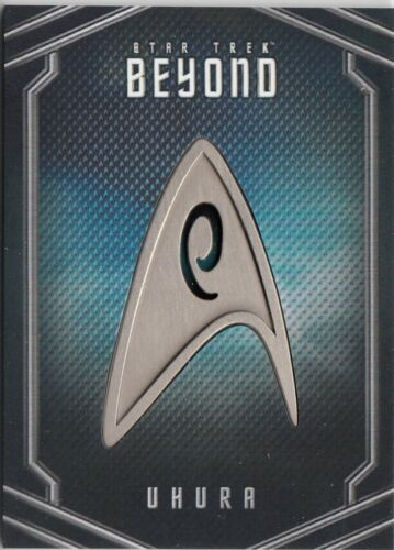 STAR TREK BEYOND MOVIE UB04 UHURA UNIFORM PIN RELIC CARD