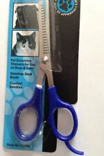 """Grooming Pet Hair Thinner Scissors 6"""" Dog Or Cat Assorted Colors Stainless Blade"""