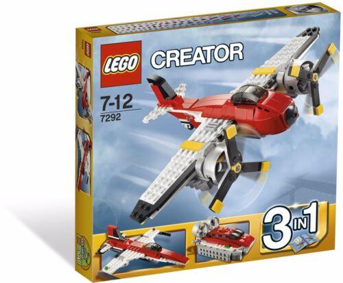 Retired 2012 NEW Very Rare #7292 LEGO Creator Propeller Adventures 3 in 1