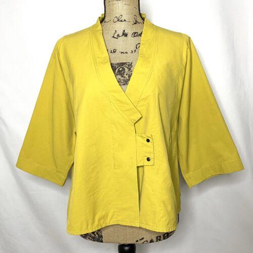 Babette Blazer M Mustard Yellow Lagenlook Top