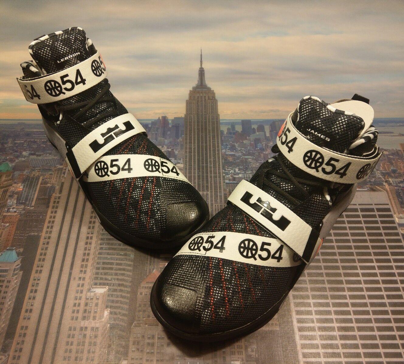 Nike lebron soldato ix 9 lmtd q54 quai 54 nero 810803 015 nuove dimensioni limitate