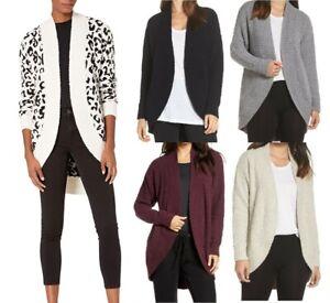 NEW UGG Women's Fremont Fluffy Soft Knit Cardigan Open Sweater Jacket Outerwear
