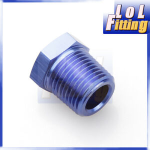 Aluminum 1//4/'/' NPT Male to 1//8/'/' NPT Female Adapter Adaptor Fitting Blue