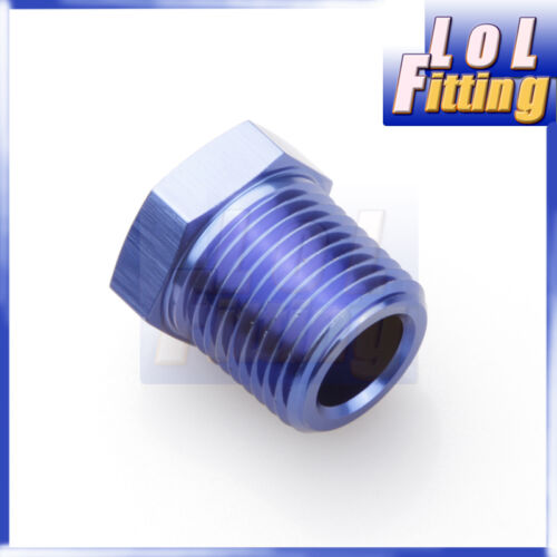 1//2/'/' NPT Male to 1//4/'/' NPT Female Adapter Fittings Aluminum Alloy Adaptor Blue