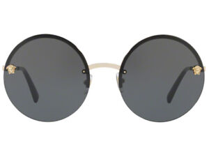 64b723357f Details about NWT VERSACE Sunglasses VE 2176 1252 87 Pale Gold   Gray  125287 59 mm NIB
