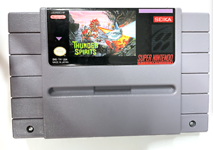 Thunder Spirits SUPER NINTENDO SNES GAME Tested ++ WORKING & AUTHENTIC!