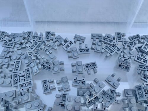 10 Pieces Per Order New Light Grey 1X2 Plate With Vertical Holder LEGO 60470