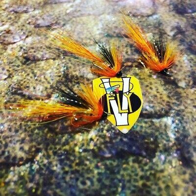 3 V Fly Size 10 Ultimate RV Silver Cascade Shrimp Treble Salmon Flies