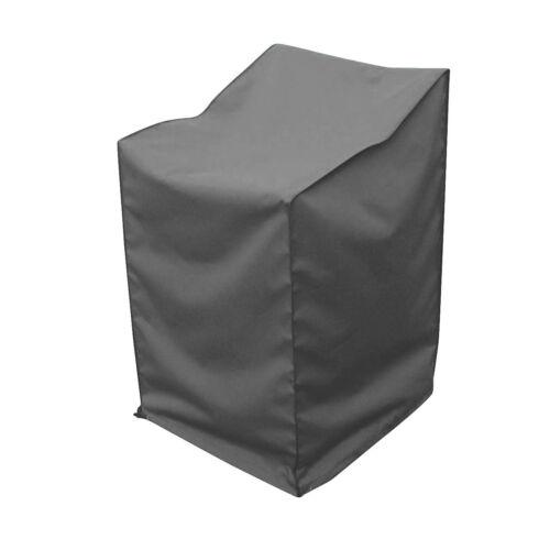 Schutzhülle für Stapelstühle wasserabweisend mit Zugband 66x66x110cm grau Garten