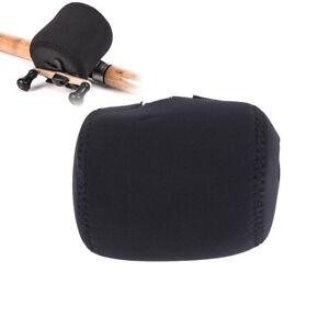 Durable-SBR-fishing-wheel-reel-bag-protective-cover-case-protector-black-Fad-QY