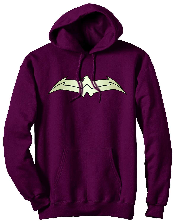 Wonder Woman 52 Symbol Maroon Hoodie Sweatshirt