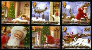 GUERNSEY-2003-CHRISTMAS-SET-OF-ALL-6-COMMEMORATIVE-STAMPS-MNH-H