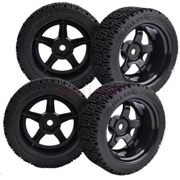 4PCS RC 1:10 On-Road Car 9mm Offset Foam Rubber Tyre Tires Wheel Rims 8030-8014