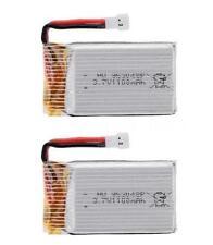 2x 3.7v 1100mah 25c 1s Volt 30c Lipo Batteria per Syma x5sc x5sw
