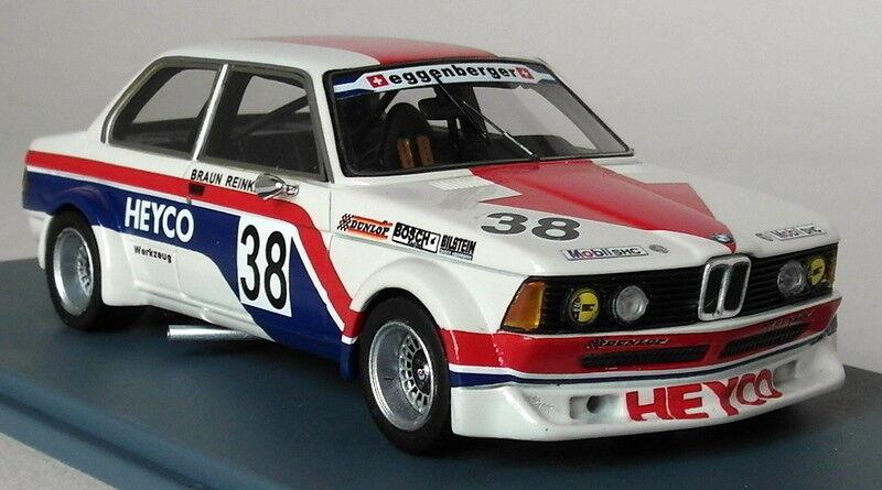 NEO 1 43 Scale BMW 320i Heyco ETCC 1977 marron Reinke Résine Voiture Modèle