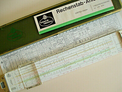 faber castell 2/82n duplex slide rule case manual germany