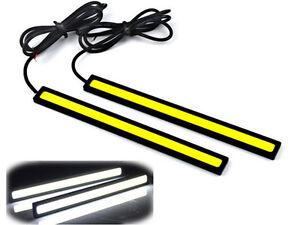 2x-White-12V-100-LED-COB-Car-DRL-Driving-Daytime-Running-Light-Bulb-Fog-Lamp