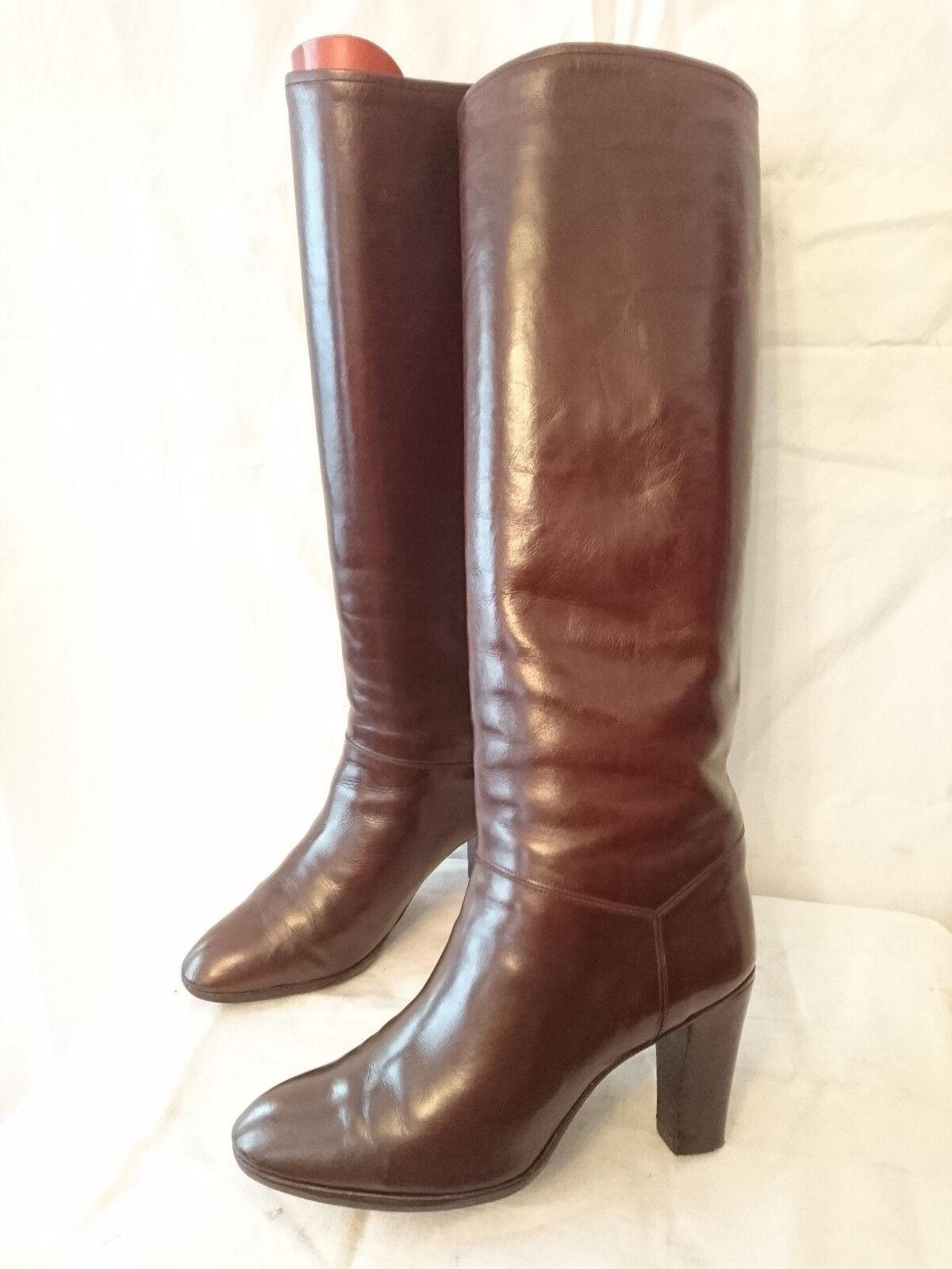 Boots Vintage 1982  brown-Bordeaux  - BALIZZA  T. 36,5