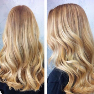 Accept. Thick blonde streaks