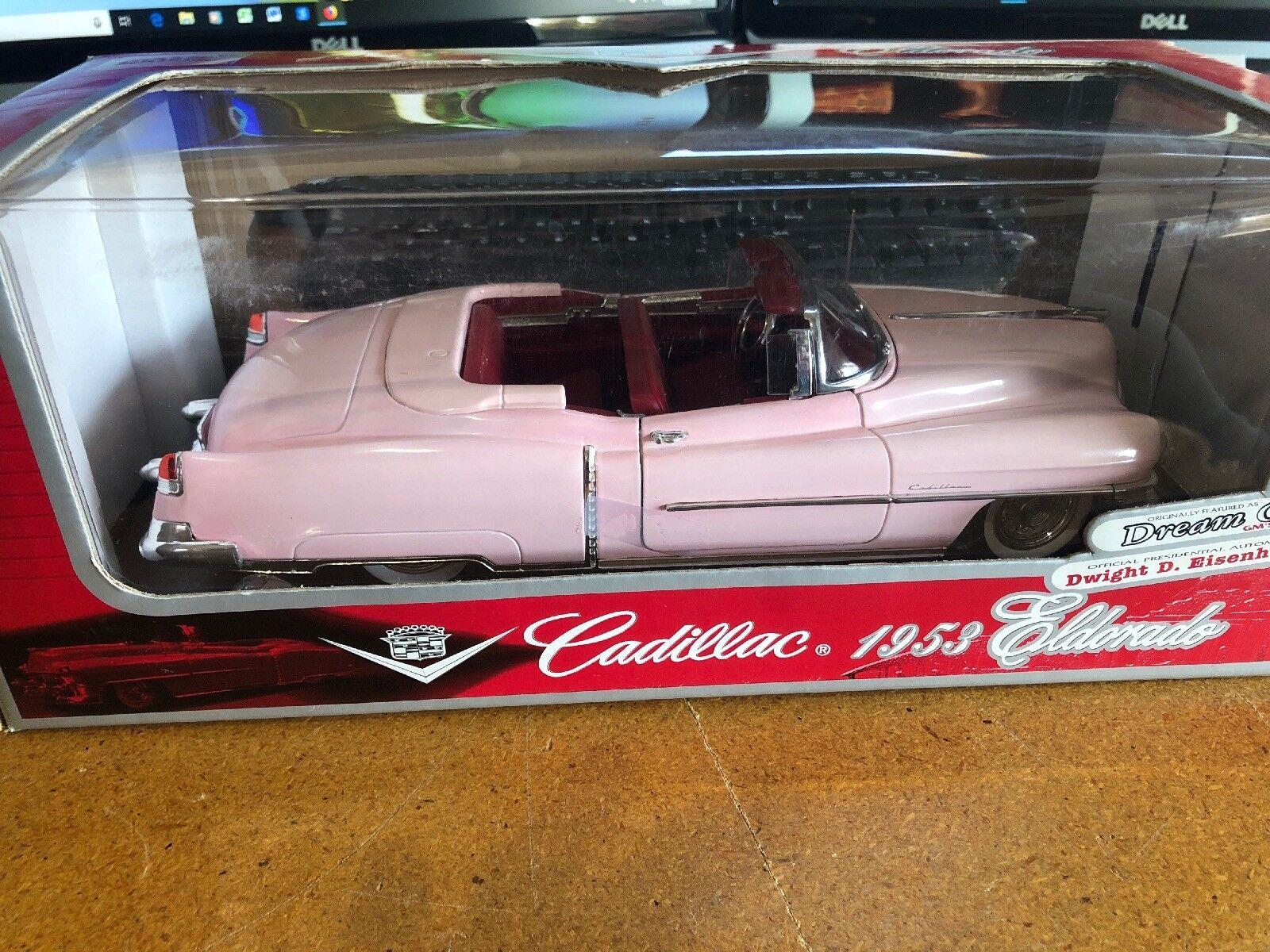 Anson 1953 Cadillac Eldorado Congreenible Pink 1 18 Scale DIECAST MODEL CAR