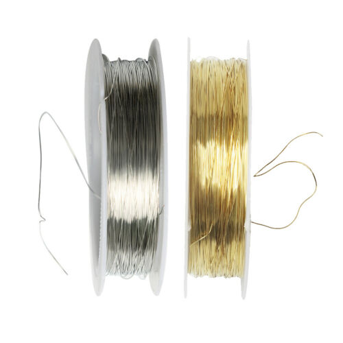 2 Rolls 22 Meters Iron Wire for Jewelry Making DIY Bridal Hair Jewelry 0.3mm