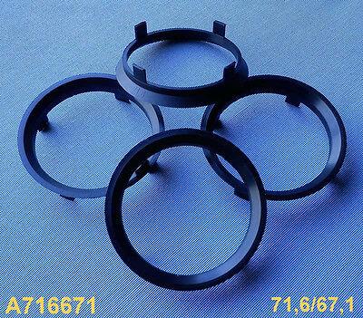 Dezent Enzo Dotz 2 x ZENTRIERRINGE DISTANZRING f/ür ALUFELGEN A716671 71,6-67,1 mm AEZ