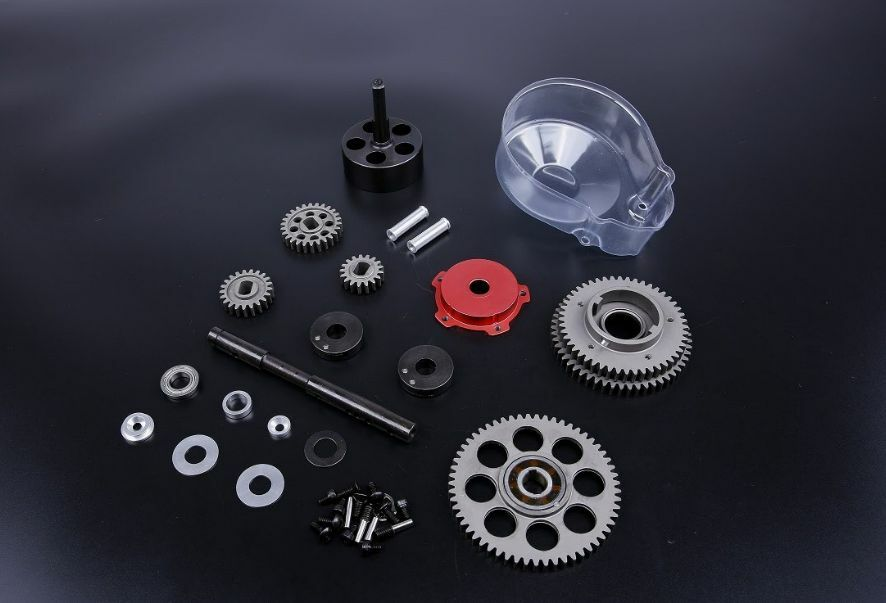 TSRC 3 Speed Transmission Kit with Small rosso gear cover for HPI BAJA 5B 5T 5SC