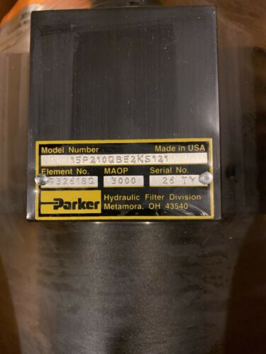 Details about  /Parker 15P 2 10Q BE2KS121 Hydraulic Filter