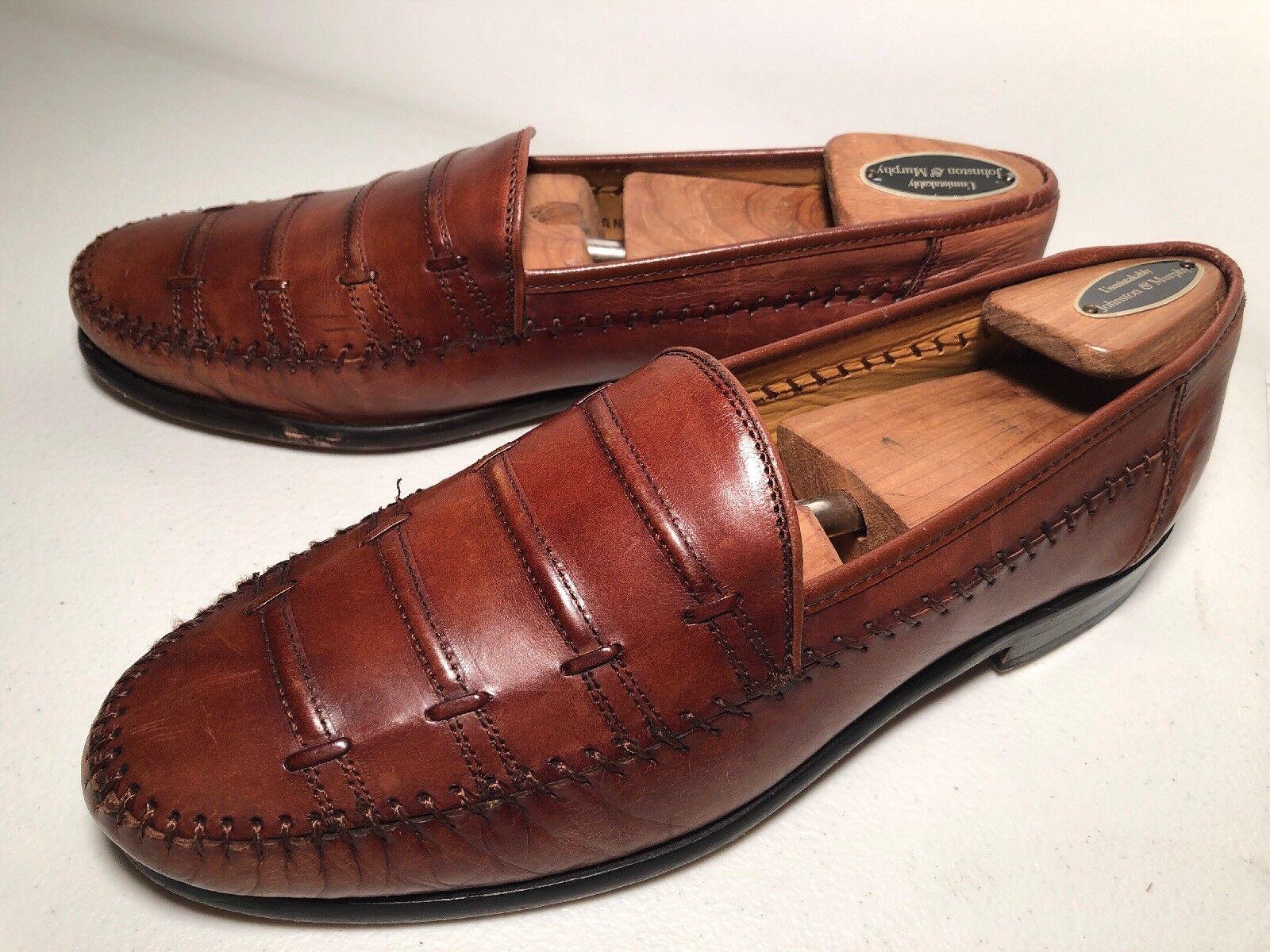 Slip Slip Slip On Loafers Sandro Moscoloni Lance Amb Sy Dress schuhe Men's Größe 8 Moccasins 1382af