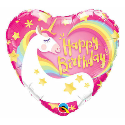 """Giant 38"""" Magical Unicorn Birthday Party Foil 12"""" Latex Balloons Helium Quality"""