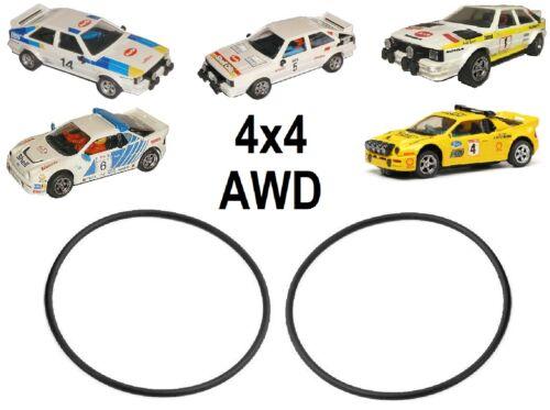 Pièce de Rechange 4x4 AWD Drive Bande Courroies pour Scalextric Audi Quattro /&