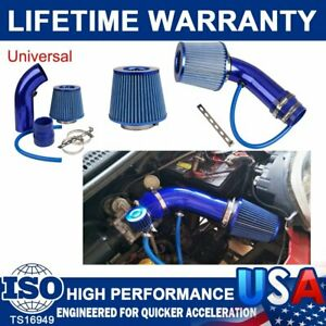 NEW BLUE 3'' CAR COLD AIR INTAKE FILTERS ALUMIMUM INDUCTION KIT PIPE HOSE SYSTEM