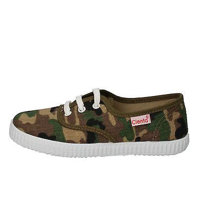 Jungen schuhe duftend CIENTA 24 EU sneakers grün braun textil AD824-E