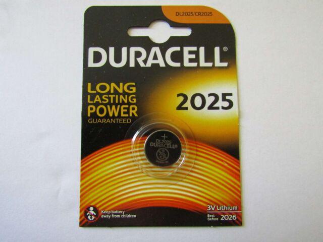 10 x CR2025 Blister Lithium Button Cell Duracell AR1277