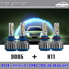 H11 9005 CREE LED Total 140W 14400LM Combo Headlight Hi/Low Beam 6000K White Kit