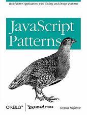 JavaScript Patterns by Stoyan Stefanov (2010, Paperback)
