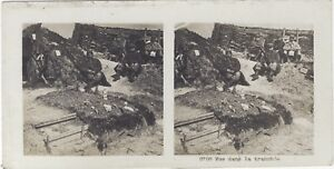 La-Trench-Big-Large-Guerre-WW1-Photo-Stereo-Vintage-Analogue
