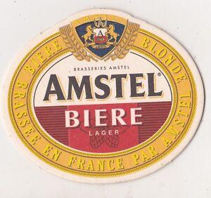 SOUS-BOCK BIERDECKEL COASTER  AMSTEL BIERE - BAR BISTROT FRANCE 100% NEUF