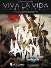 Viva La Vida Sheet Music Piano Vocal Coldplay NEW 000353826