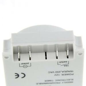 12V//24V//110V//220V LCD Digital Programmable Control Power Timer Switch Relay L701
