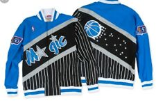 Authentic NBA Mitchell & Ness Orlando Magic Pinstripe Vintage warm-up Jacket
