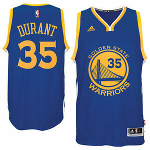 huge discount d0ed6 cb8ae Details about NBA Kevin Durant #35 Golden State Warriors adidas Swingman  Men's Jersey - Blue
