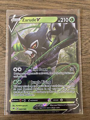 ZARUDE V ULTRA RARE VIVID VOLTAGE 022//185 SWORD /& SHIELD POKEMON CARD