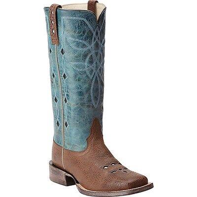 Ariat Ladies Ranch Luxe Cocoa Bean/Aqua Dulce Boot 10015334