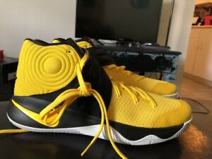 premium selection df122 0067c Details about Nike Kyrie 2 Tour Basketball Shoes Yellow/Black-White Irving  819583 701 Sz 13.5
