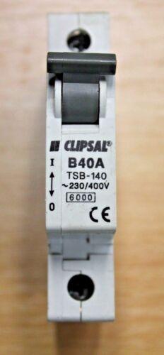 Clipsal Reja de desminado/'s 6 16 32 40-132 140 10KA 60898 TSB-116-106 Tipo B