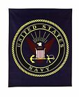 Rothco Military Insignia Fleece Blankets 50in X 60in Navy