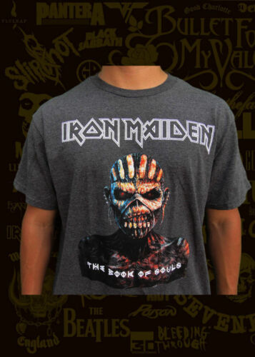 IRON MAIDEN THE BOOK OF THE SOULS CHARCOAL GREY T SHIRT MEN/'S SIZES NEW!